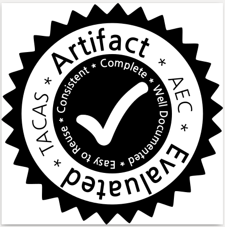 TACAS 2018 Artifact Evaluation Badge